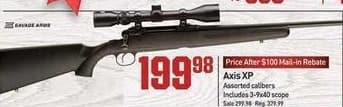 Dicks Sporting Goods Black Friday: Savage Axis XP Rifle for $199.98 after $100.00 rebate