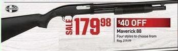 Dicks Sporting Goods Black Friday: Maverick 88 Shotgun for $179.98