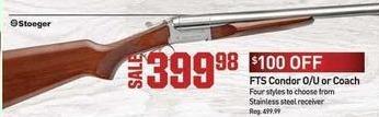 Dicks Sporting Goods Black Friday: Stoeger FTS Condor O/U or Coach Shotgun for $399.98