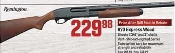 Dicks Sporting Goods Black Friday: Remington 870 Express Wood Shotgun for $229.98 after $60.00 rebate