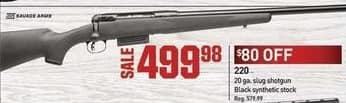 Dicks Sporting Goods Black Friday: Savage Arms 220 Shotgun for $499.98