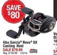 Cabelas Black Friday: Abu Garcia Revo SX Casting Reel for $79.99