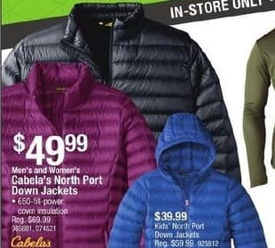 Cabelas Black Friday: Cabela's Kids' North Port Down Jackets for $39.99