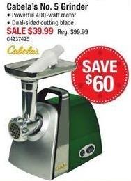 Cabelas Black Friday: Cabela's No. 5 Grinder for $39.99