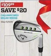 Golf Galaxy Black Friday: Callaway MD3 Milled Wedge for $109.99