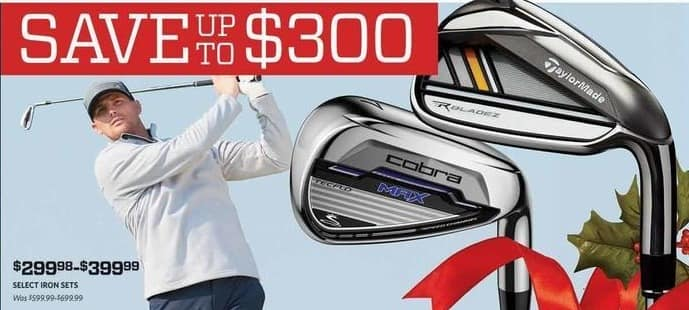 Golf Galaxy Black Friday: Select Iron Sets: Taylormade, Cobra Max & More for $299.98 - $399.99
