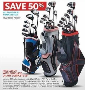 Golf Galaxy Black Friday: Golf Lesson w/ Purchase of Any Complete Set for Free