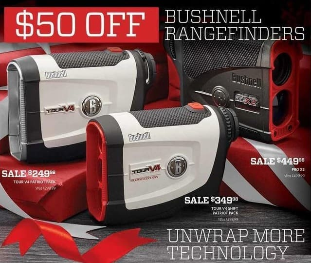 Golf Galaxy Black Friday: Bushnell Tour V4 Patriot Pack Rangefinder for $249.98