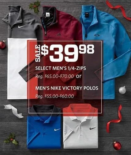 Golf Galaxy Black Friday: Nike Men's Victory Polos for $39.98
