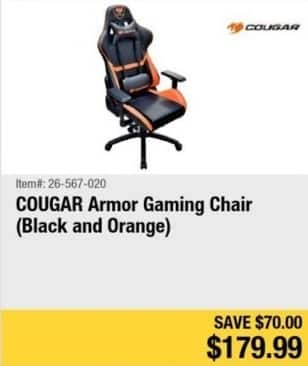 Newegg Black Friday Cougar Armor Gaming Chair For 179 99