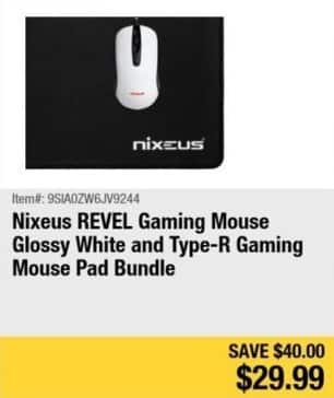 Newegg Black Friday: Nixeus REVEL Gaming Mouse and Type-R Gaming Mouse Pad Bundle for $29.99