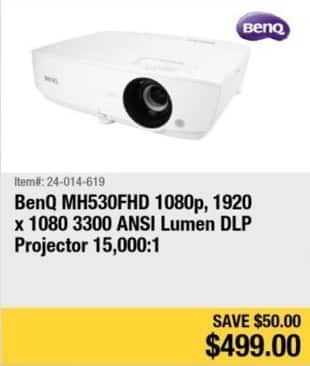 Newegg Black Friday: BenQ MH530FHD 1080p DLP Projector for $499.00