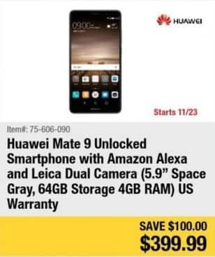 "Newegg Black Friday: 64GB Huawei Mate 9 5.9"" Unlocked Smartphone for $399.99"