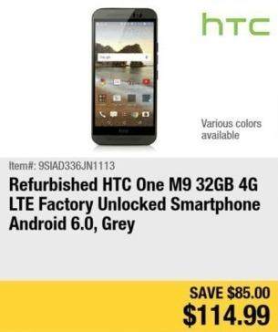 Newegg Black Friday: 32GB HTC One M9 Unlocked Smartphone for $114.99