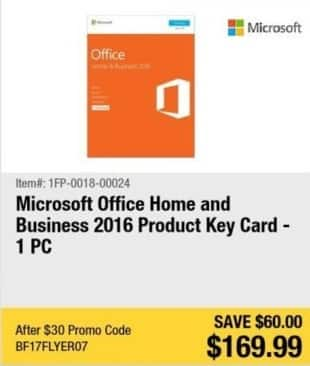 newegg black friday microsoft office home and business 2016 product