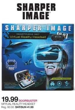Stage Stores Black Friday Sharper Image Virtual Reality Headset For