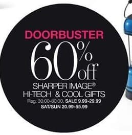 Stage Stores Black Friday: Sharper Image Hi-Tech and Gifts for $9.99 - $29.99