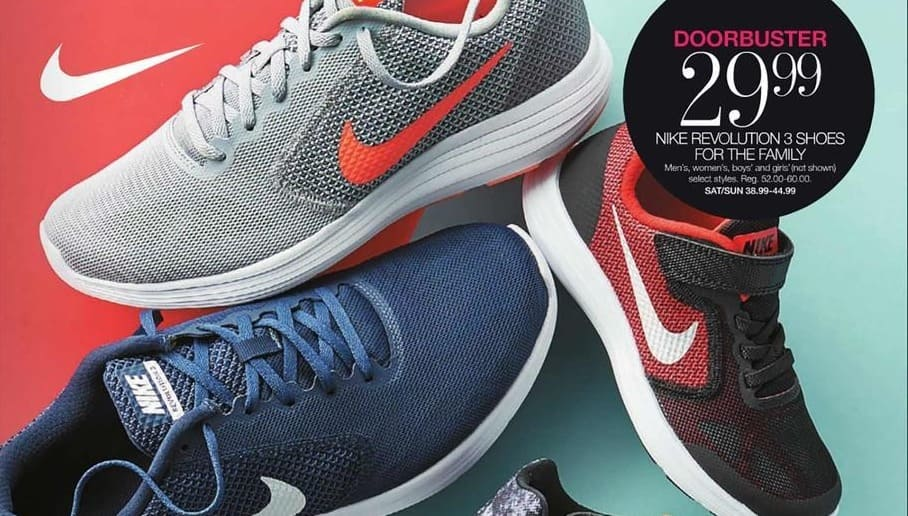 purchase cheap 38f0d 64a12 Stage Stores Black Friday  Nike Revolution 3 Men s, Women s, Boys  or  Girls  Shoes for  29.99