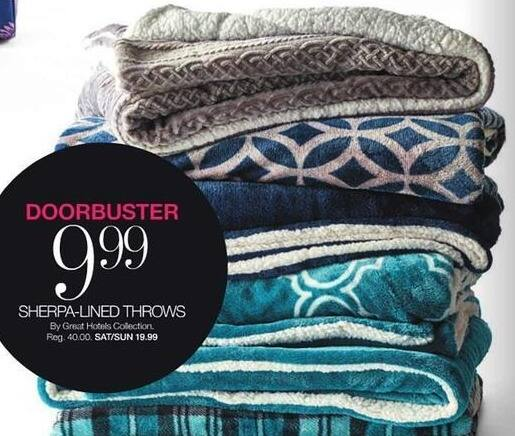 Stage Stores Black Friday: Great Hotels Collection Sherpa-Lined Throws for $9.99