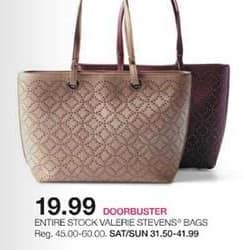 Stage Stores Black Friday: Entire Stock Valerie Stevens Bags for $19.99