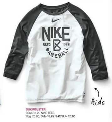 Stage Stores Black Friday: Nike Boys' Tees for $18.75