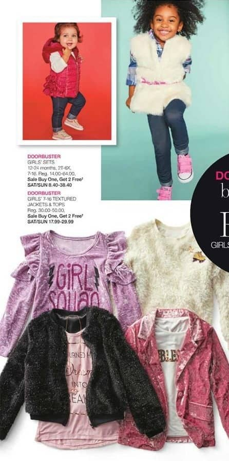 Stage Stores Black Friday: Girls' Clothing Sets - B1G2 Free