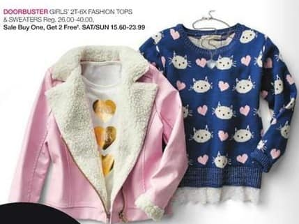 Stage Stores Black Friday: Girls' Fashion Tops and Sweaters - B1G2 Free