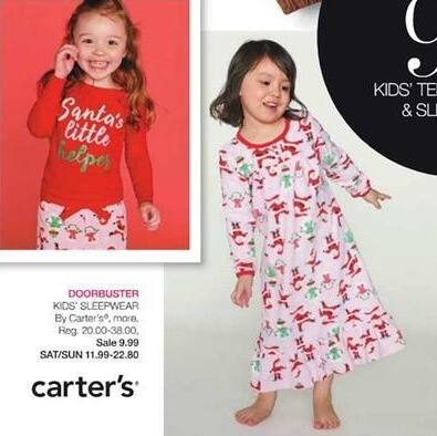 Stage Stores Black Friday: Kids' Sleepwear from Carter's & More for $9.99