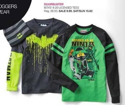 Stage Stores Black Friday: Boys' Licensed Tees for $9.99