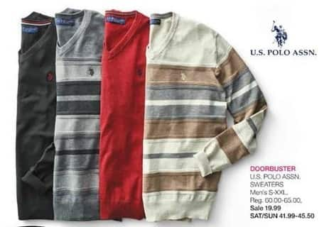 Stage Stores Black Friday: U.S. Polo Assn. Men's Sweater for $19.99
