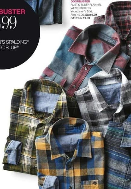 Stage Stores Black Friday: Rustic Blue Young Men's Flannel Woven Shirts for $9.99