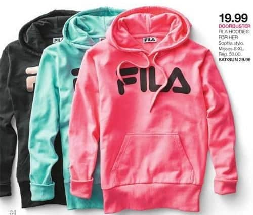 Stage Stores Black Friday: Fila Misses Hoodies for $19.99
