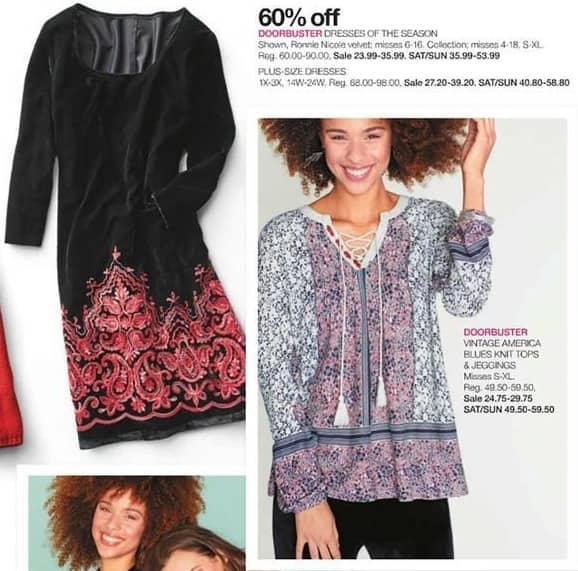Stage Stores Black Friday: Vintage America Blues Misses Knit Tops and Jeggings for $24.75 - $29.75