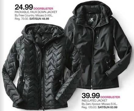 Stage Stores Black Friday: Free Country Misses Packable Faux Down Jacket for $24.99
