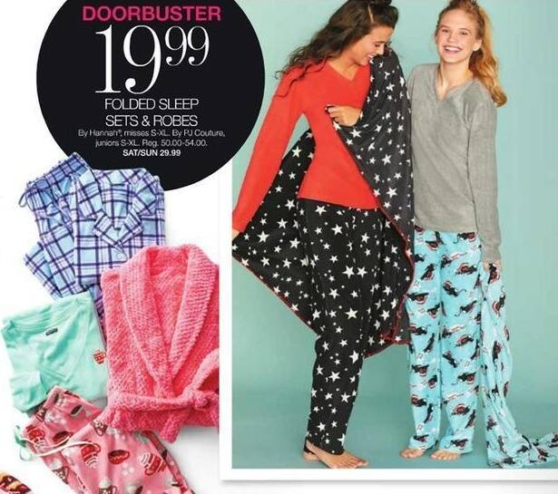 Stage Stores Black Friday: Hannah Misses Folded Sleep Sets and Robes for $19.99