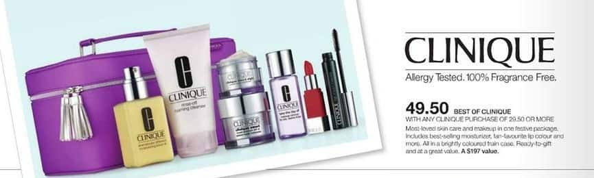 Stage Stores Black Friday: Best of Clinique Set w/ Clinique Purchase of $29.50 or More for $49.50