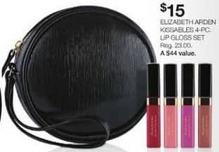 Stage Stores Black Friday: Elizabeth Arden Kissables 4-pc Lip Gloss Set for $15.00
