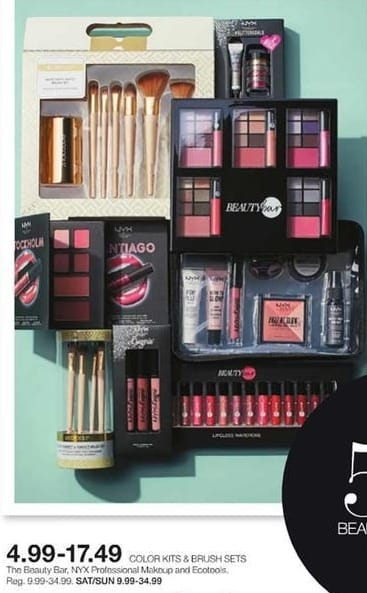Stage Stores Black Friday: The Beauty Bar, NYX Professional Makeup and Ecotools Color Kits or Brush Sets for $4.99 - $17.49