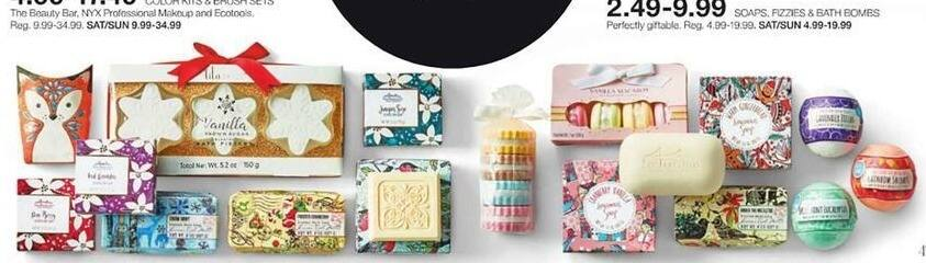 Stage Stores Black Friday: Soaps, Fizzies and Bath Bombs for $2.49 - $9.99