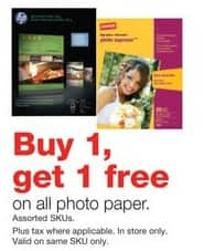 Staples Black Friday: All Photo Paper - B1G1 Free