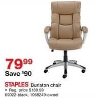 Staples Black Friday: Staples Burlston Chair for $79.99