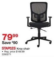 Staples Black Friday: Staples Kroy Chair for $79.99