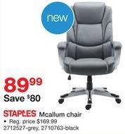 Staples Black Friday: Staples Mcallum Chair for $89.99