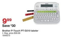 Staples Black Friday: Brother P-Touch PT-D210 Labeler for $9.99