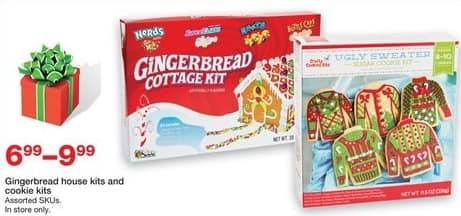 Staples Black Friday: Gingerbread House and Cookie Kits for $6.99 - $9.99