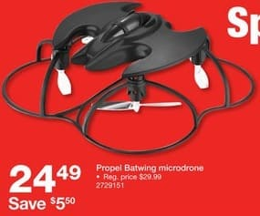 Staples Black Friday: Propel Batwing Microdrone for $24.49
