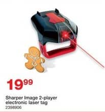 Staples Black Friday: Sharper Image 2-player Electronic Laser Tag for $19.99