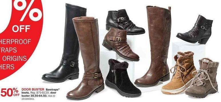 Bon-Ton Black Friday: Baretraps Women's Boots - 50% Off