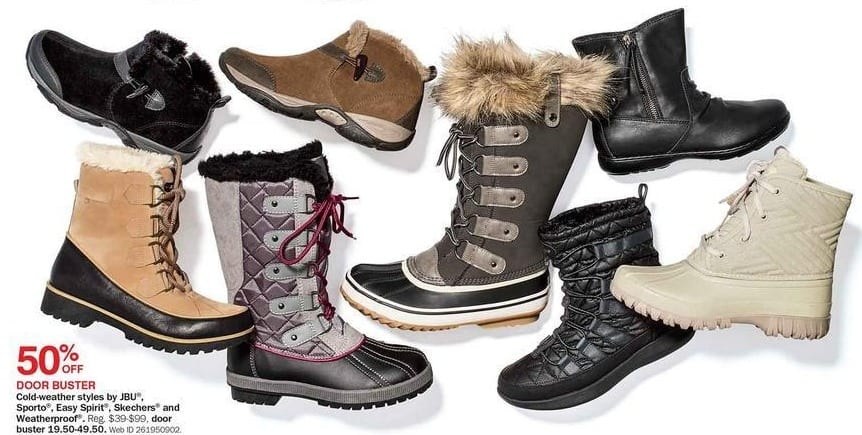 Bon-Ton Black Friday: Skechers, Easy Spirit, Weatherproof, JBU and Sporto Women's Cold-Weather Shoes and Boots - 50% Off
