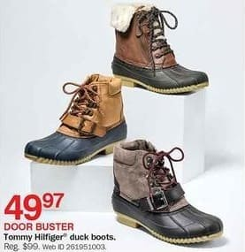 Bon-Ton Black Friday: Tommy Hilfiger Women's Duck Boots for $49.97